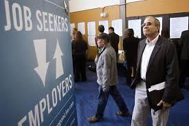 Job Seekers, Employers, Arrows